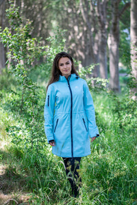 Nordberg Softshell Jassen Gisella Long in blauw