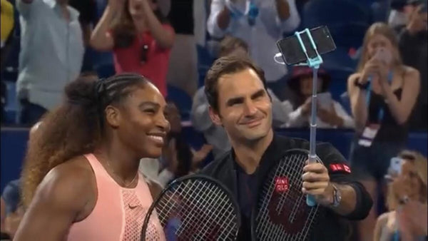 Serena Williams and Roger Federer's Selfie Stick Photo Goes Viral