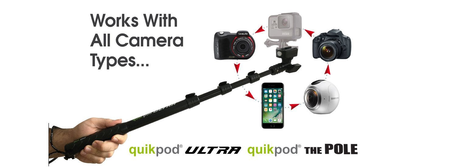 Quik Pod ULTRA selfie stick for diving