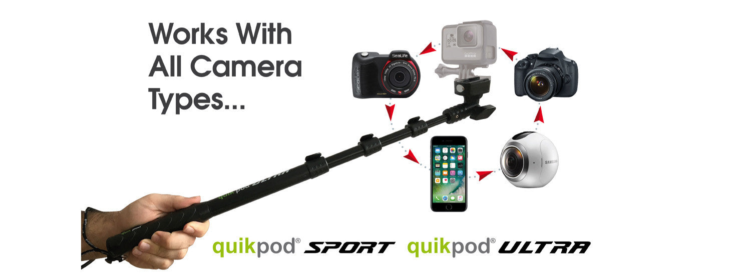Slider image of quikpod twist universal phone mount