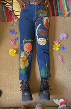 "Load image into Gallery viewer, ""LONG DISTANCE"" hand-painted jeans! [1 of 1]"