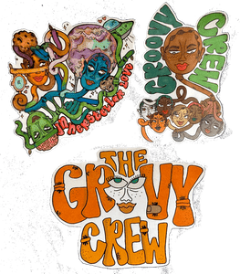 """GROOVY"" sticker pack¸. ✶*¨*. ¸ .✫*¨*.¸¸.✶*¨'*✫"