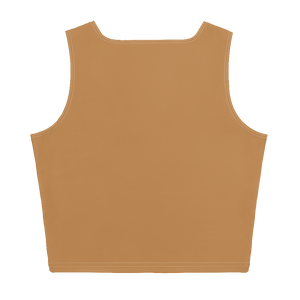 TAN STAR CROP TANK TOP