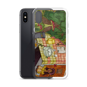 """anywhere can be a temporary escape"" iphone case"