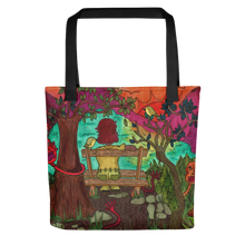"Load image into Gallery viewer, ""with the birds i share this lonely view"" tote bag"