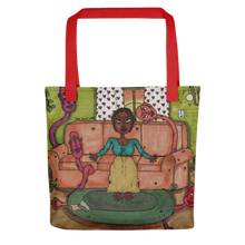 "Load image into Gallery viewer, ""misery loves company"" tote bag"