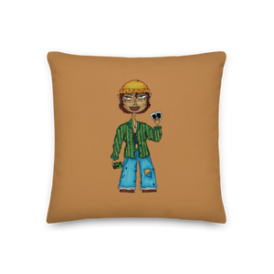 """honey"" pillow"