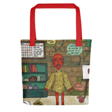 "Load image into Gallery viewer, ""taking a break is productive"" tote bag"