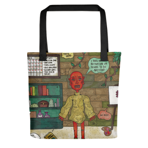 """taking a break is productive"" tote bag"