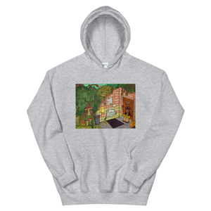 """anywhere can be a temporary escape"" hoodie"