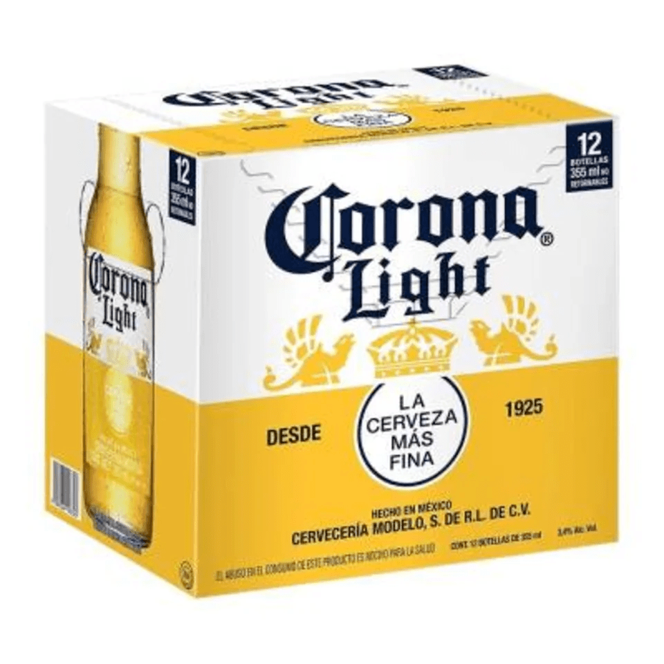 Cerveza clara Corona light 12 botellas de 355 ml c / u
