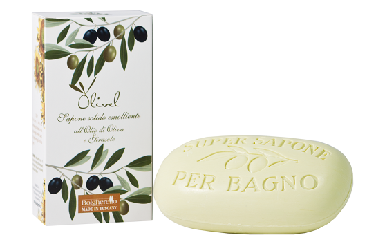 Emollient solid soap
