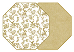 TWO SIDED CHINOIS AND DOT FAN PLACEMAT