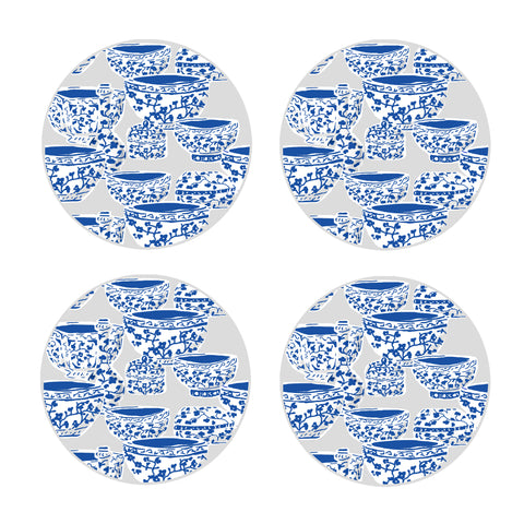 DANA GIBSON SET OF 4 PRINTEMPS COASTERS
