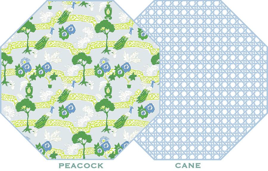 Peacock and Cane Placemat