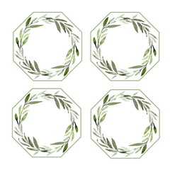 LEAVES WREATH COASTERS
