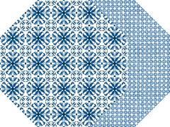 TWO SIDED OCTAGONAL PORTO PLACEMATS