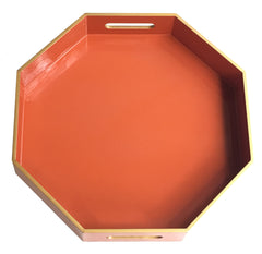 Octagonal Lacquer Tray