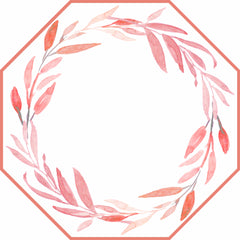 CUSTOM AND MONOGRAMMED WATERCOLOR LEAVES WREATH AND DOT FAN  PLACEMATS