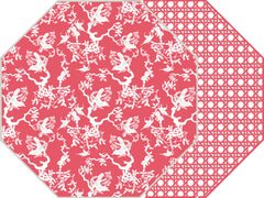 CHINOIS AND CANE TWO SIDED OCTAGONAL PLACEMAT