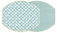 IKAT Two Sided Reversible Hardboard Handcrafted Wipeable Placemat Sea