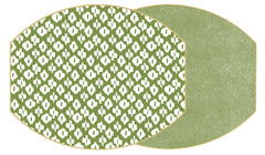 IKAT Two Sided Reversible Hardboard Handcrafted Wipeable Placemat Saxon Green