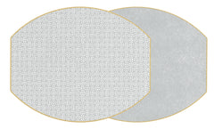 SAYAGATA Two Sided Reversible Hardboard Handcrafted Wipeable Placemat Gray