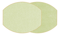 "Two Sided Sayagata and Dot Fan 17"" X 14""  Ellipse Placemat"