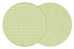 HOLLY'S KEY  Two Sided Reversible Hardboard Handcrafted Wipeable Placemat LIME