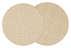 "Two Sided Sayagata and Dot Fan 15 "" Round Hardwood Placemat"
