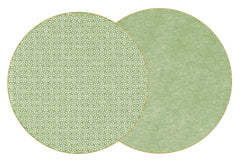 SAYAGATA Two Sided Reversible Hardboard Handcrafted Wipeable Placemat Saxon Green