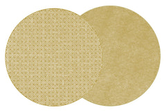 SAYAGATA Two Sided Reversible Hardboard Handcrafted Wipeable Placemat Shimmer (Gold)