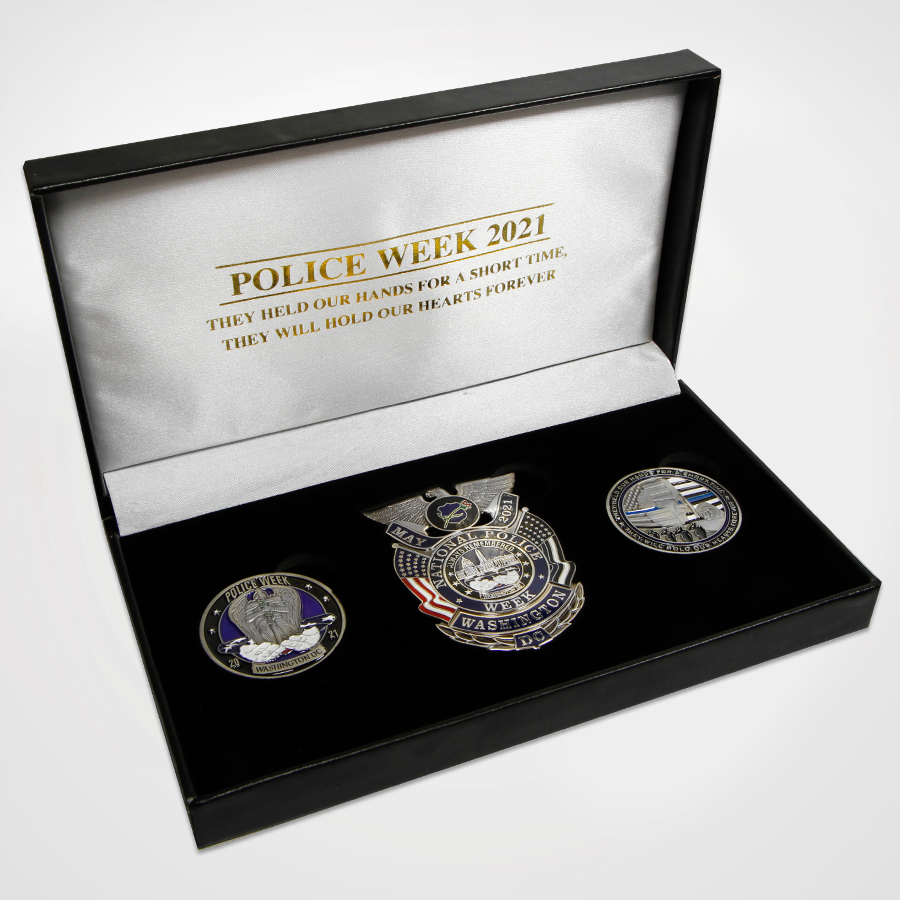 Police Week 2021 Box set with badge and two coins