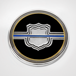 Blue Line Shield Coin