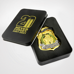 20th anniversary 9/11 badge in black tin