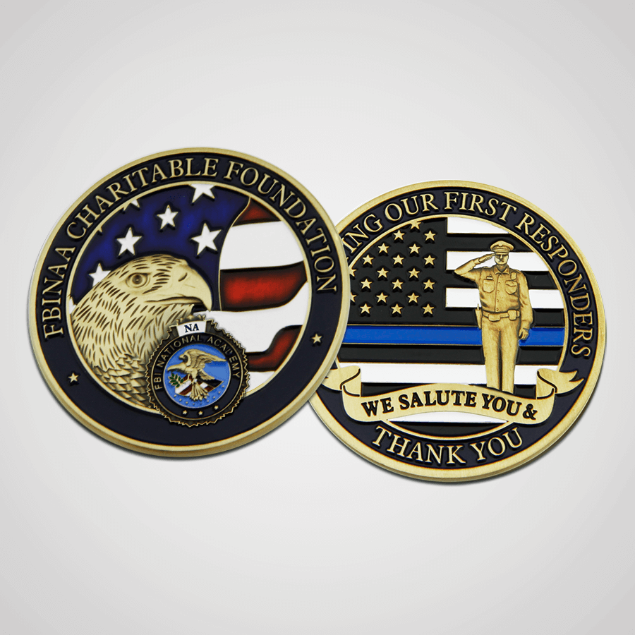Load image into Gallery viewer, FBINAA 50k Challenge Coins