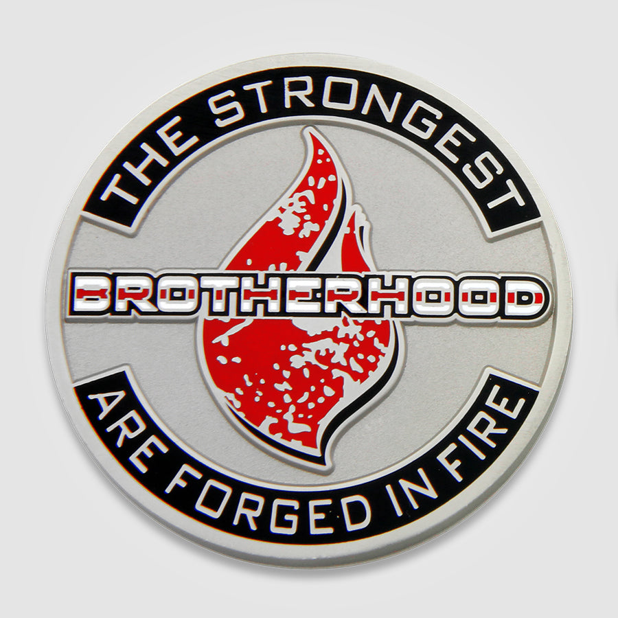Load image into Gallery viewer, Brotherhood Fire Coin-Front