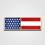 Horizontal Gold Flag Merit Pin-Bar