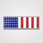 Vertical Silver Flag Merit Pin-Bar