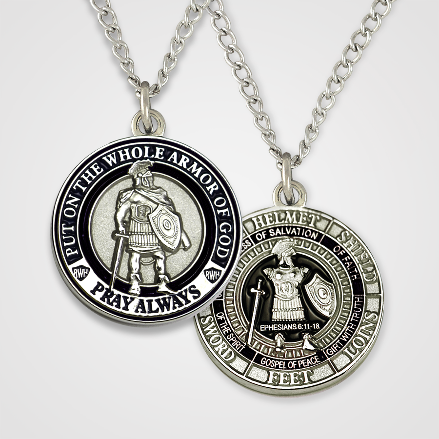Load image into Gallery viewer, Armor of God Pendant Male-Black