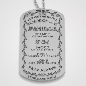 Load image into Gallery viewer, Armor of God Dog Tag Female-Back