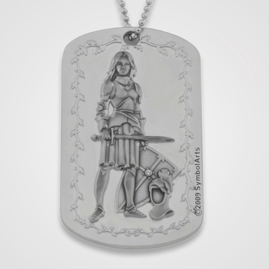 Armor of God Dog Tag Female-Front