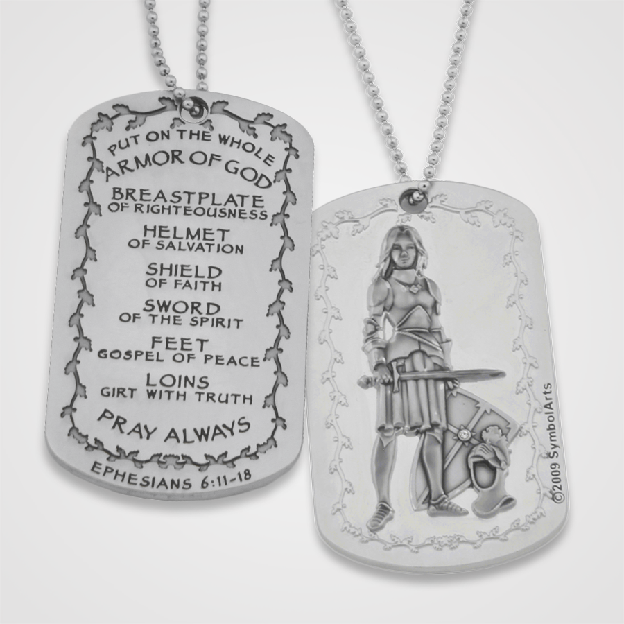 Load image into Gallery viewer, Armor of God Dog Tag Female
