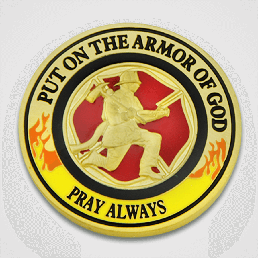 Load image into Gallery viewer, Armor of God Fire Coin-Back