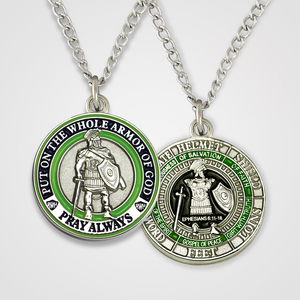 Load image into Gallery viewer, Armor of God Pendant Male-Green