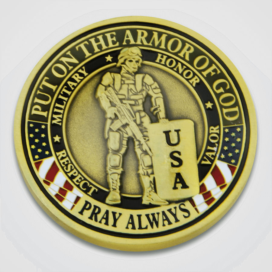 Armor of God Military Coin-Front