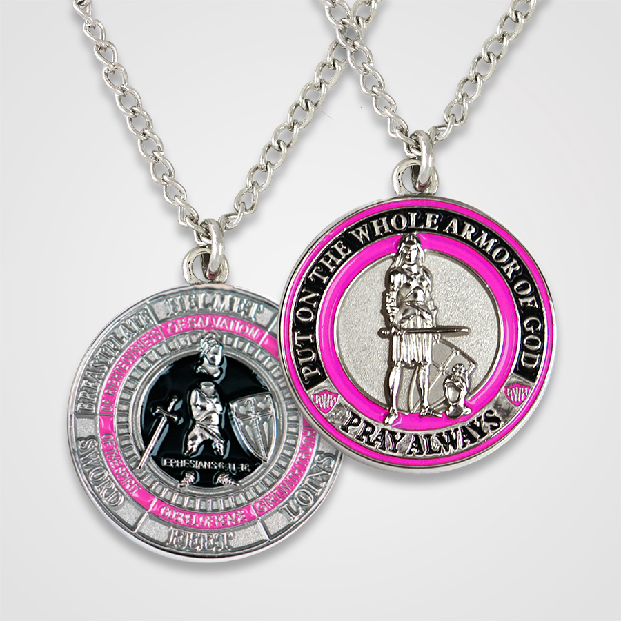 Load image into Gallery viewer, Armor of God Pendant Female-Pink
