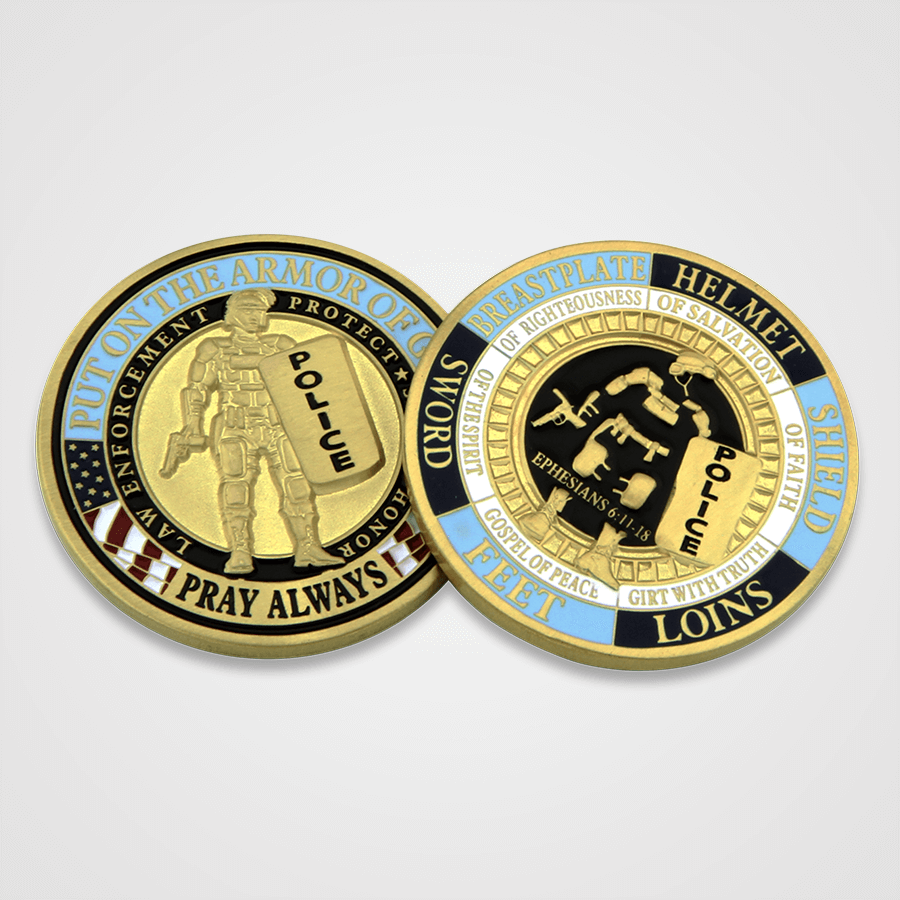 Armor of God Police Coins