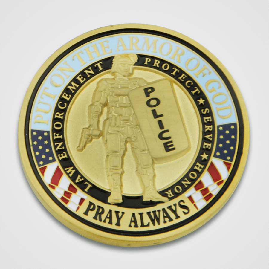 Armor of God Police Coin-Back