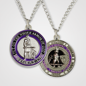 Load image into Gallery viewer, Armor of God Pendant Female-Purple